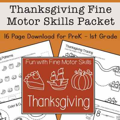 Thanksgiving Fine Motor Skills Packet