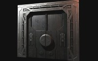 Futuristic Sliding Door