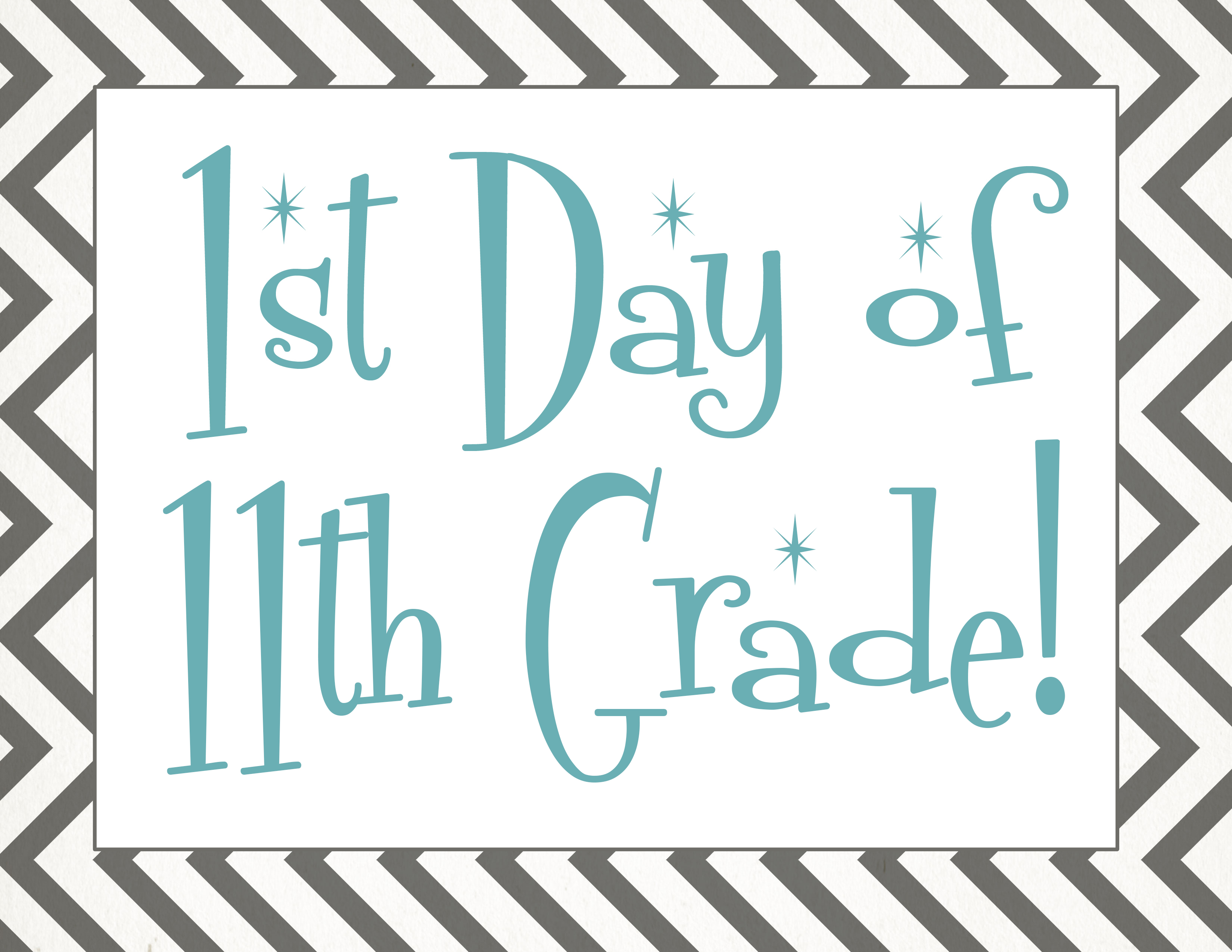 Back To School Free First Day Of School Printables