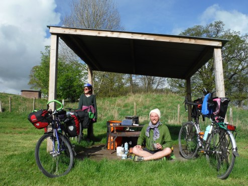 Cycle Touring Festival - Jim drinking Tea
