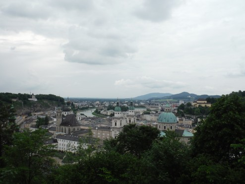 The view of Salzburg from the castle