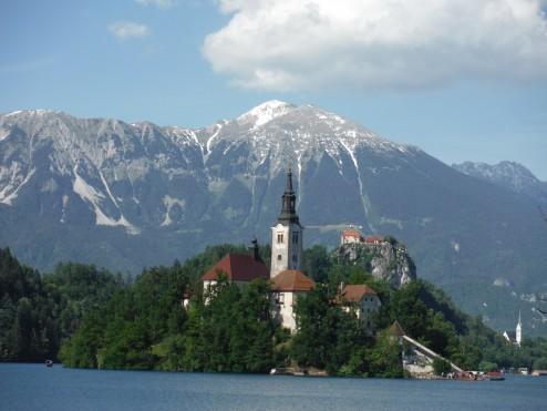 Island on Lake Bled