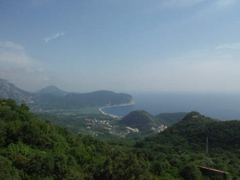 Petrovac from the top of the climb
