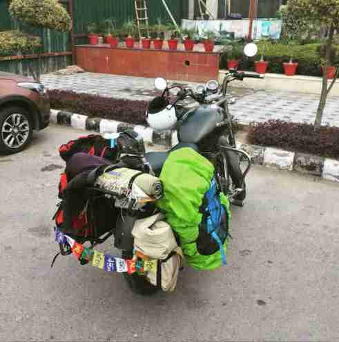 motorcycle tour india - end of the road