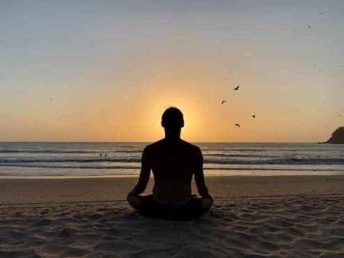 meditation at agonda beach