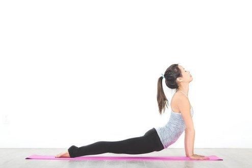 yoga for cyclists beginner stretch - upward facing dog