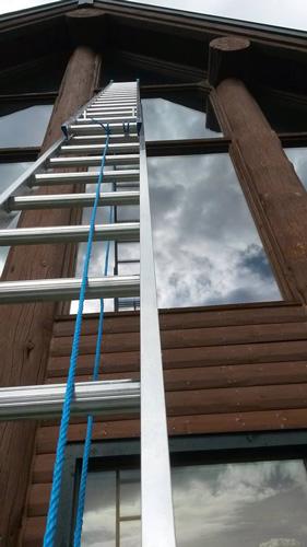 Ladder with windows