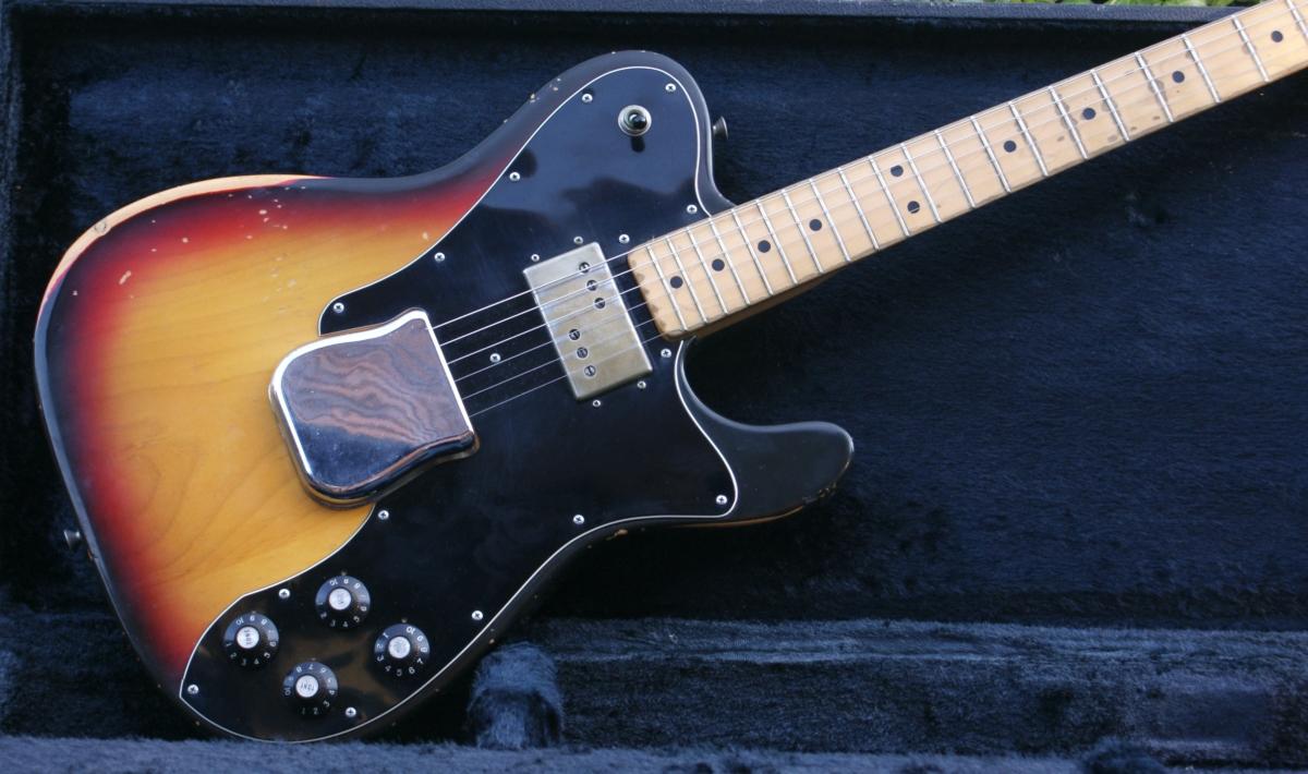 Vintage 1973 Fender Telecaster Custom Sunburst  Case