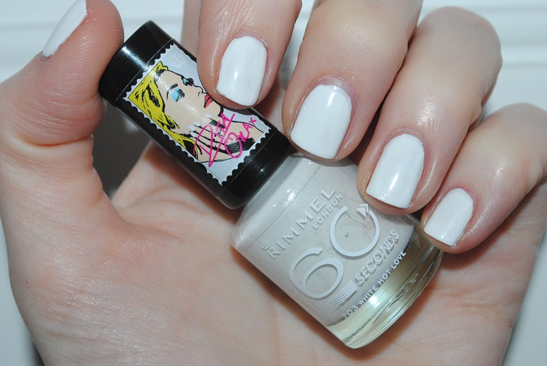 e94bacd3343 Rita Ora for Rimmel 60 Seconds Nail Polish – White Hot Love 703 Swatch