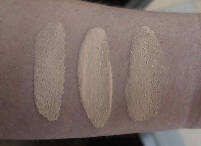 The Ordinary Colours Foundation Swatches - 1.0N, 1.0P, 1.0NS