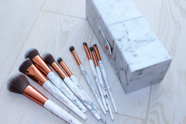 Lily England Marble Luxe Brush Set