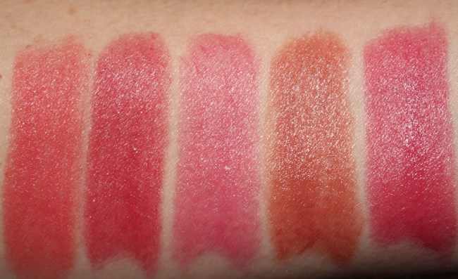 Bobbi Brown Crushed Lip Color - Angel, Babe, Baby, Bare, Bitten Swatches