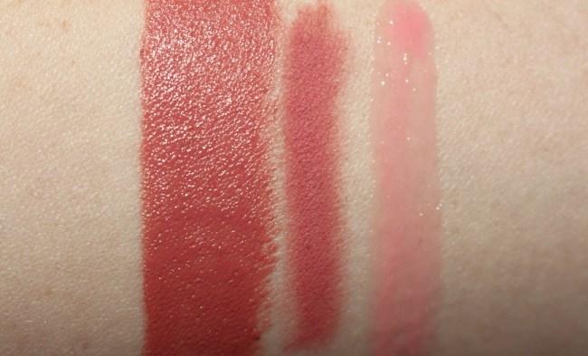 Charlotte American Sweetheart Swatch (with Pink Venus Lip Cheat & Portobello Girl Lip Lustre)