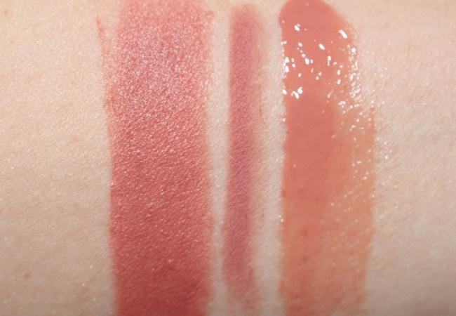 Charlotte Tilbury English Beauty Lipstick Swatch (with Pillow Talk Lip Cheat & Seduction Lip Lustre)