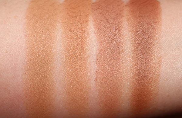 Bronze Goddess Ultimate Mineral-Infused Matte Bronzer - Halo, Suggestive, Brazen & Hot Spell Swatches