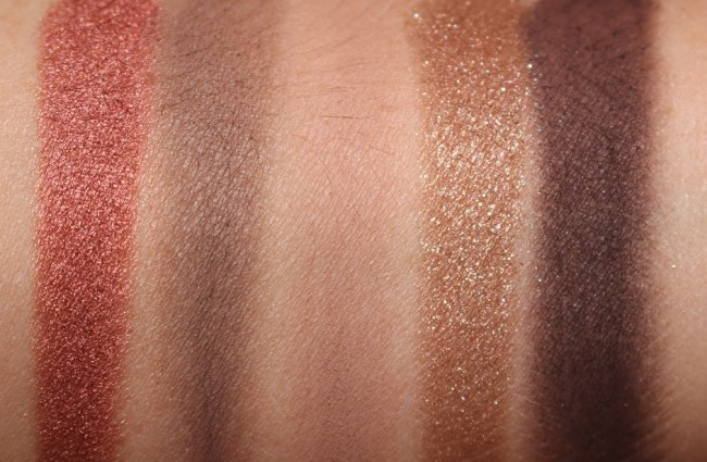 Bobbi Brown Nude on Nude Eye Palette Rosy Nudes Edition Swatches