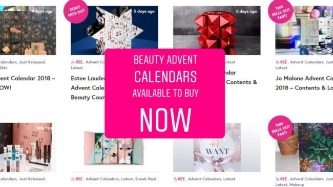 beauty advent calendars 2019 the best for all budgets. Black Bedroom Furniture Sets. Home Design Ideas