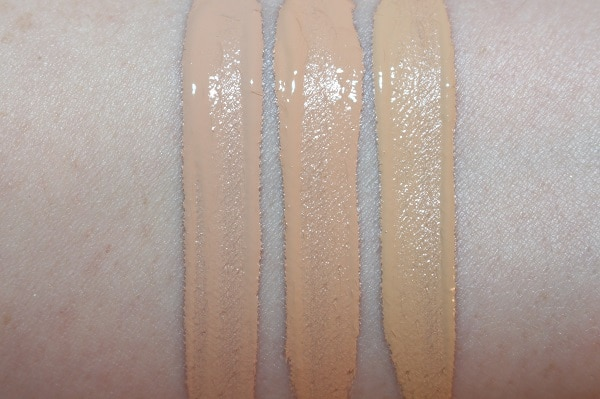 Armani Power Fabric High Cover Stretchable Concealer Swatches