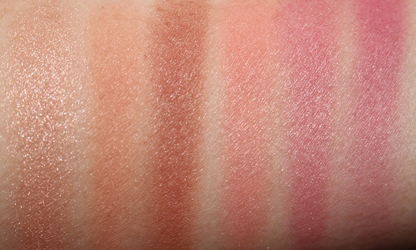 NARS Exposed Cheek Palette Swatches (dry)