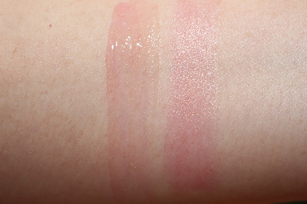 Orgasm Oil-Infused Lip Tint Swatch (left)