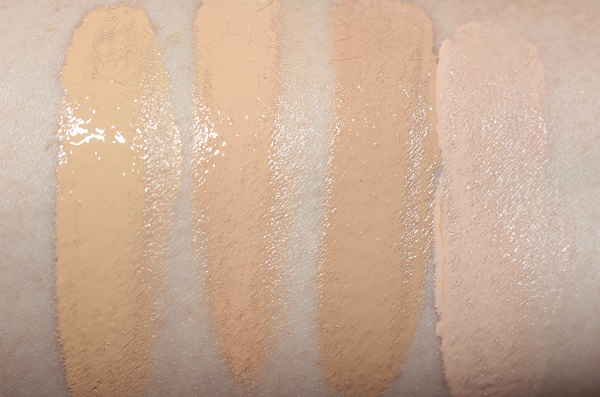 Decorte AQ Radiant Glow Lifting Foundation Swatches