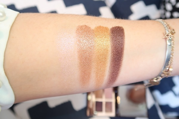 Charlotte Tilbury Celestial Eyes Palette of Pops Swatches (with light)