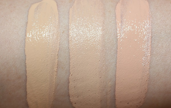 Clarins Everlasting Youth Fluid Foundation Swatches - 105.5, 106, 107