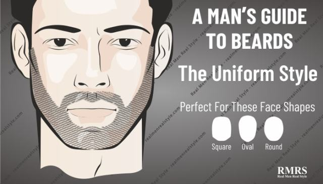 man's facial hair uniform style