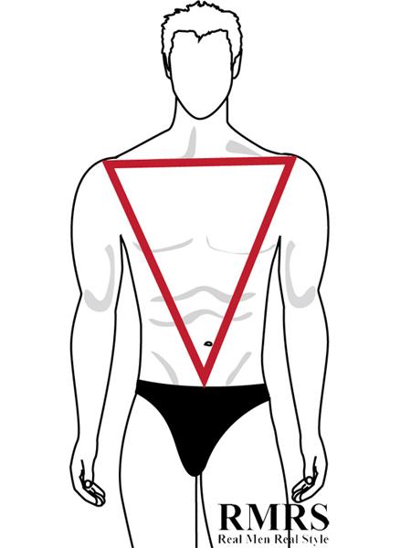 Inverted Triangle Male Body Shape (AKA 'V' Shape)
