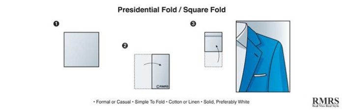 how to fold a pocket square - presidential