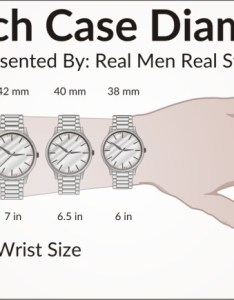 Watch size chart also sizes guide how to buy the right for your wrist rh realmenrealstyle