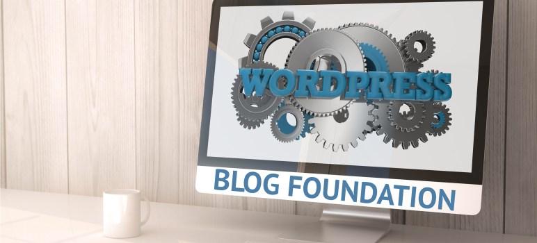 solid blog foundation
