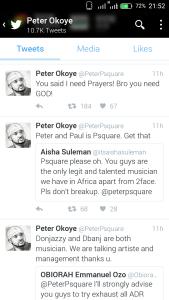 Peter's tweets
