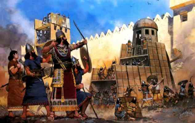 Image result for siege warfare assyrians