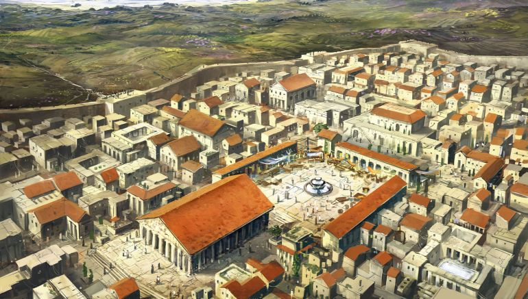 Animation Presents Ancient Corinth During The Roman Period