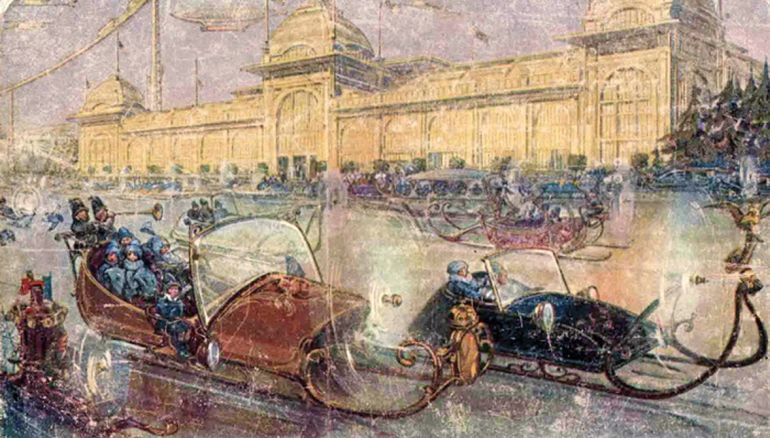 Postcards Of 1914 Depict Futuristic Moscow In The 23rd