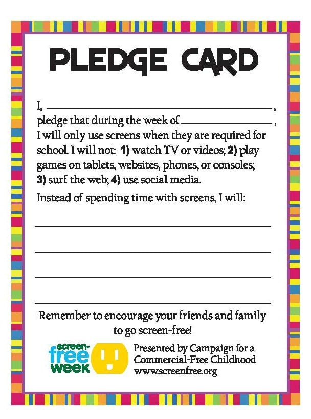 pledge card for fundraising