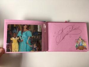 Disney souvenirs princess autographs