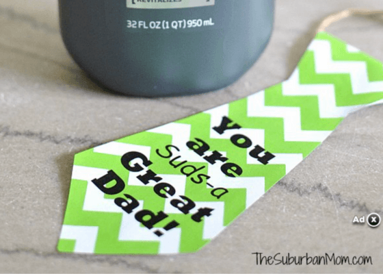 Free Printable fathers day tie card