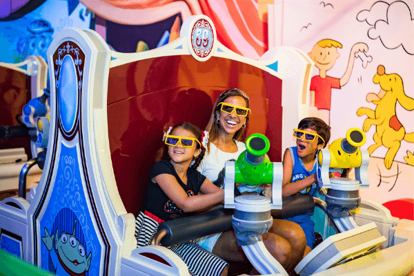 Toy story mania ride at Disney's Hollywood studios