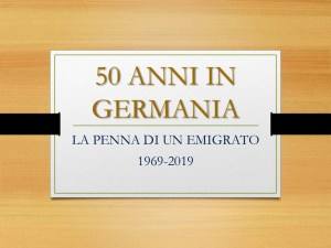 "Salvatore Siracusa ""50 anni in Germania"""
