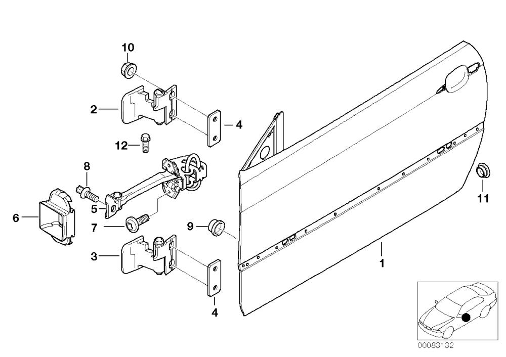 medium resolution of front door hinge door brake