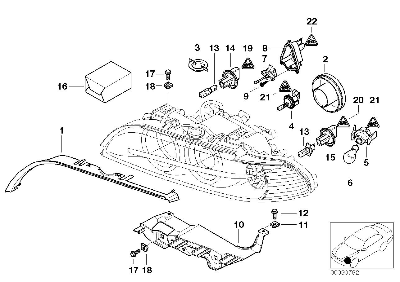 hight resolution of bmw headlight diagram