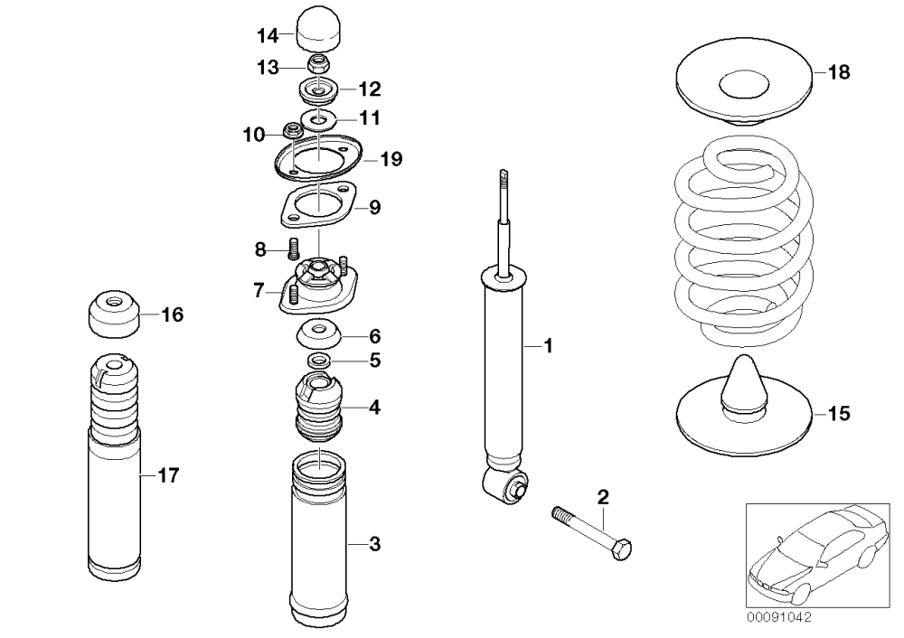 medium resolution of rear spring strut mounting parts