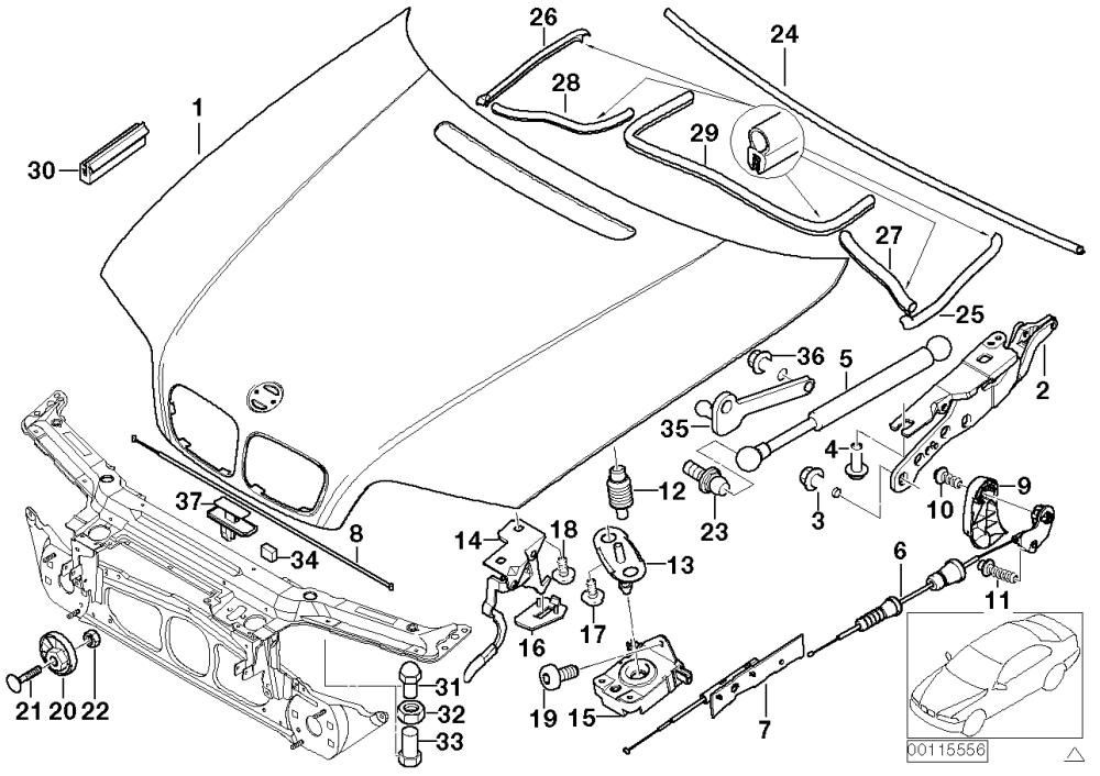 medium resolution of realoem com online bmw parts catalog rh realoem com e36 m3 engine bay diagram e36 m3