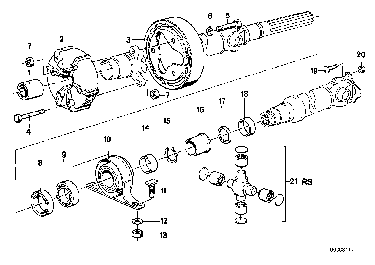 hight resolution of drive shaft univ joint center mounting