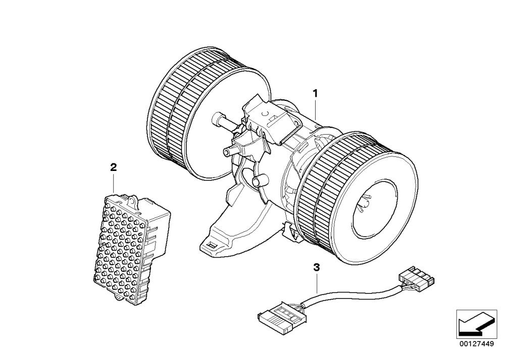 medium resolution of blower unit mounting parts