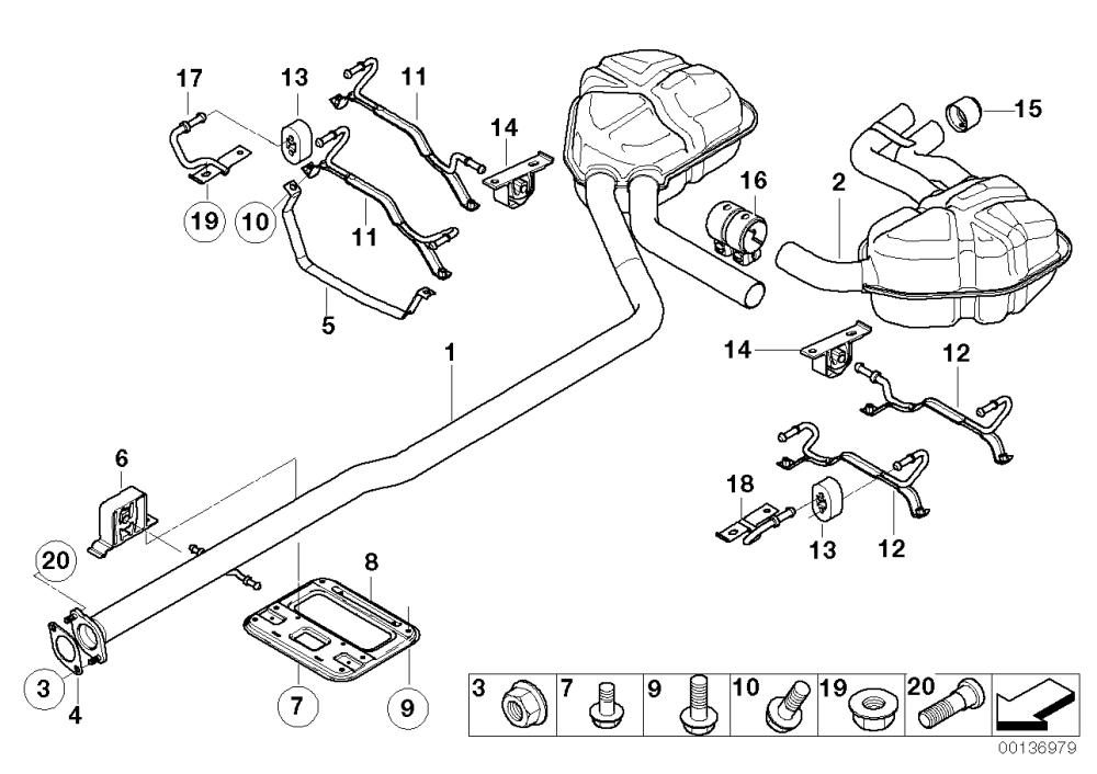 medium resolution of exhaust system rear