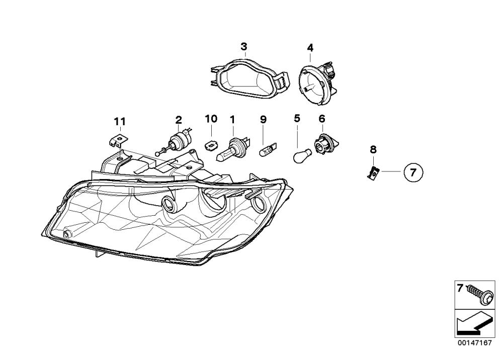 medium resolution of realoem com online bmw parts catalog halogen headlight diagram