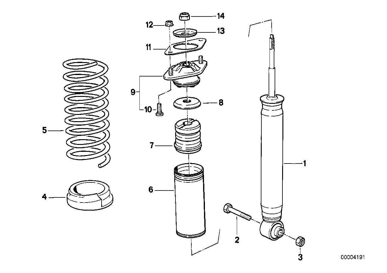 hight resolution of rear spring strut coil spring and parts
